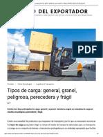 Tipos de carga_ general, granel, peligrosa, perecedera y frágil _ DIARIO DEL EXPORTADOR