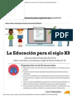 La Educación para el siglo XXi_new - by Valeria Granados Estrada [Infographic]