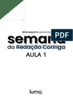 SEMANA REDAÇÃO CORINGA - LUMA - AULA 1 - EBOOK-CPL1