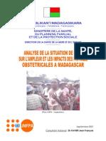 Analyse situation de base sur les l'ampleur et les impacts des fistules obstétricales à Madagascar