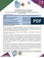 Syllabus  del curso Seminario Pedagogia Y Didactica Intercultural I