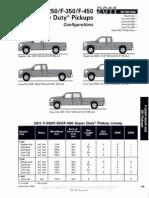 2011 super duty pickup configurations