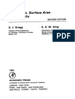 Adsorption, surface area and porosity