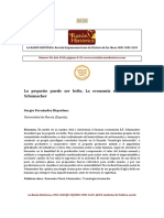 Sergio Fernández Riquelme. La Economía Social de Schumacher. LRH 38.pdf