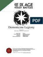 The 9th Age Demoniczne Legiony