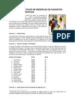 CASOS PRACTICOS DE RESERVAS DE PAQUETES TURISTICOS
