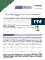 FICHA DE TRABAJO JORNADA DE REFLEXION  CICLO VII DPCC