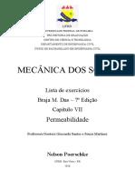 Braja M Das - 7ª Ed - Capítulo 07 - Permeabilidade