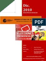 Boletín de noticias del mes de diciembre de 2010