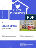 White and Blue Simple Commercial Real Estate Presentation