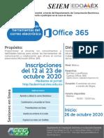 Convocatoria Conociendo las herramientas del correo office 365 oct2020