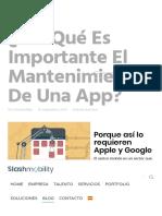 ¿Por qué es importante el mantenimiento de una app_ - SlashMobility _ Soluciones mobile