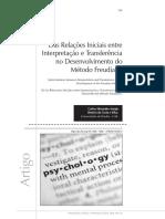 Araújo e Costa e SIlva - Das Relações Iniciais entre Interpretação e Transferência