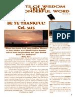 November Tid Bits of Wisdom 2010 Final Press