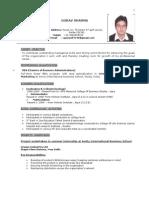 Gaurav Resume 2003