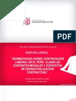 CONTRATACIÓN LABORAL EN EL PERÚ - CLASES DE CONTRATOS