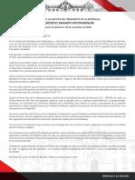 Mensaje a La Nación 23-11-2020