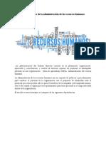 Características de la administración de los recursos humanos