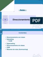 Redes-Direccionamiento