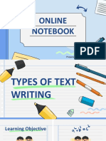 PPT English 9 -  Type of Text Writing