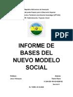 Bases del Nuevo Modelo Social