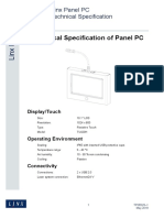 Panel PC Tech Spec Iss1