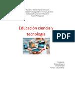 Educación ciencia y tecnología