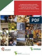 El papel de los activos culturales en la dinamicas territorias rurales elc aso de tlacolula y ocotlan