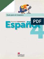 CASTILLO ESPAÑOL FUNDAMENTAL DOCENTE 4° GRADO