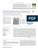 Environmental and cost life cycle assessment of different alternatives for improvement of wastewater treatment plant in developing countries