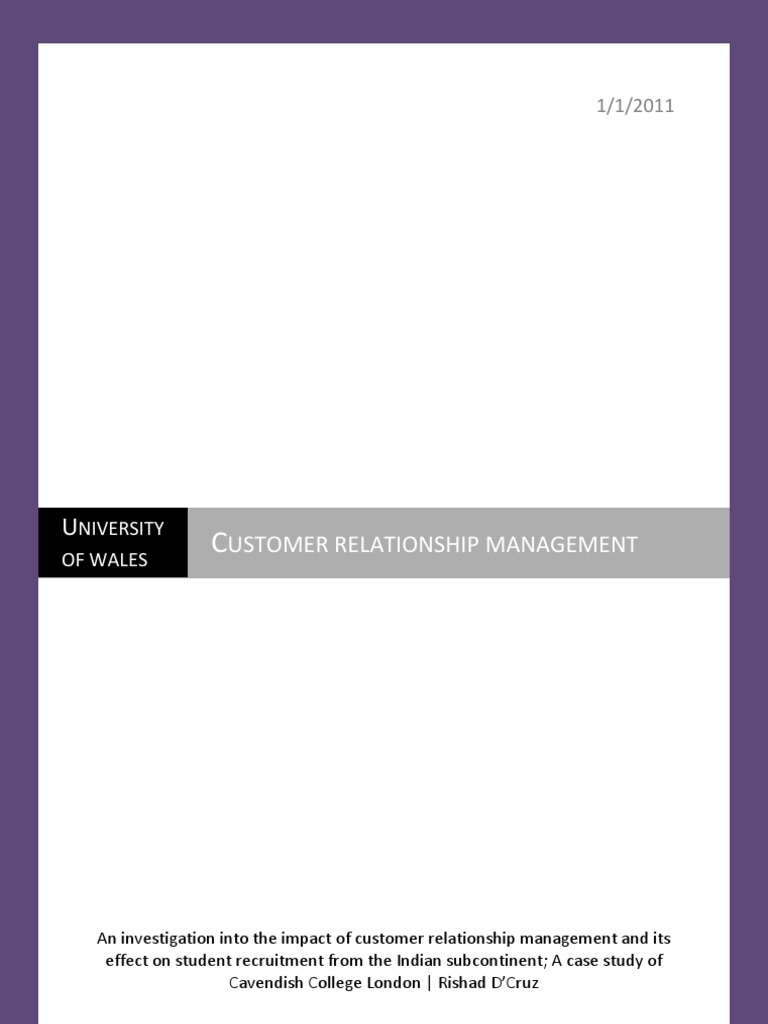 customer relationship management ph d thesis The book is a good overview on all aspects of e-business including management of the infrastructure, the e-environment, e-business strategy, supply chain management, e-procurement, internet marketing, customer relationship management change management, design implementation and maintenance.
