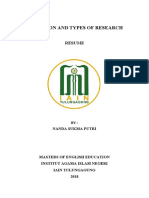 DEFINITION AND TYPES OF RESEARCH-RESUME