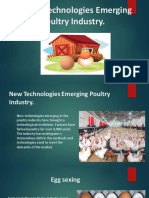 New Technologies Emerging Poultry Industry.