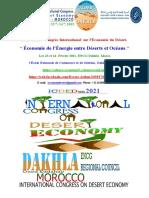 Appel à communications du Troisième Congrès International sur l'Économie du Désert, ENCG Dakhla, Maroc