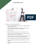 analysing magazine articles