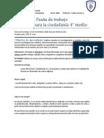 Pauta de trabajo ensayo CPLC 4° medio