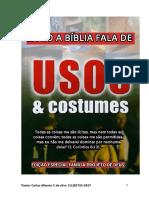 Livro a Bíblia Fala de Usos e Costumes