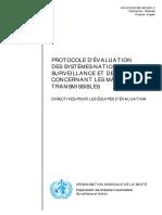 WHO Protocol Evalu Surv Epid