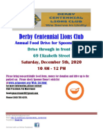 Derby Centennial Lions Club Food Drive