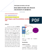 Knowledge Discovery by Image Recognition in Robots