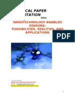 Nanotechnology Enabled Sensors