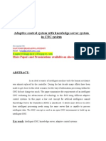 Adaptive Control System With Knowledge Server System in CNC System