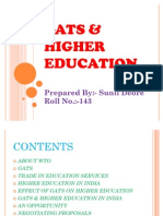 GATS N HIGHER EDUCATION