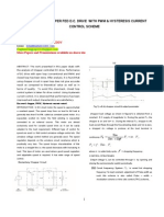 Analysis of Chopper Fed d.c. Drive With Pwm & Hysteresis Current Control Scheme