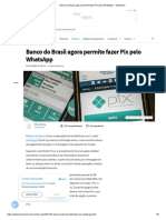 Banco do Brasil agora permite fazer Pix pelo WhatsApp - TecMundo