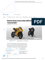 Damon lança novas motos elétricas HyperDrive 'mais baratas' - TecMundo