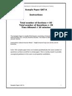 NTS GAT-A Sample Paper