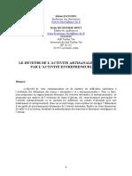 LE DEVENIR DE L'ACTIVITE ARTISANALE PASSE-T-IL PAR L'ACTIVITE ENTREPRENEURALE.pdf