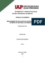 MECANISMOS DE SOLUCION DE CONTROVERSIAS analiis