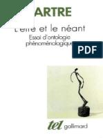 L'Être Et Le Néant - Sartre